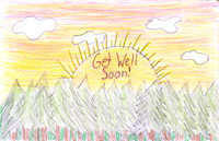 Sunshine Get Well Card